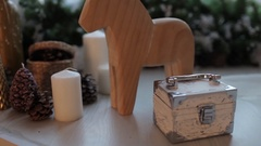 Interior Decoration, Wooden Horse Stock Footage