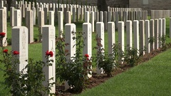 Graveyard in Jerusalem for British soldiers fallen during the First World War Stock Footage