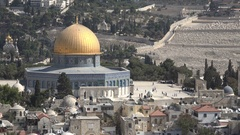 Dome of the Rock in Jerusalem, architecture history religion in Israel Stock Footage