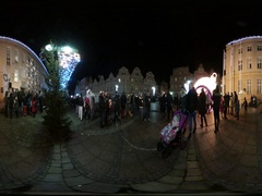 360Vr Video Saint Nicholas' Day in Opole Poland People With Kids Are Stock Footage