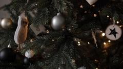 Christmas Tree Decoration Dark Toys Stock Footage