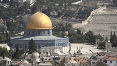 Israel religion, Dome of the Rock on the Temple Mount in Jerusalem Stock Footage
