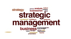 Strategic management animated word cloud, text design animation. Stock Footage