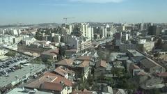 View of modern downtown skyline Jerusalem, Israel's capital city Stock Footage
