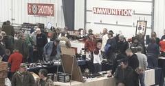 Gun Show - Wide Shot of Crowd - Ammunition - 4k Stock Footage