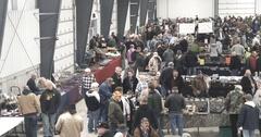 Gun Show - Wide Panning Shot of Crowd - 4k Stock Footage