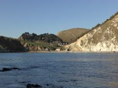 Lulworth Cove. Beautiful coast. Stock Footage