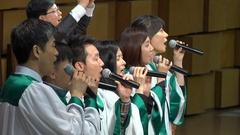 Upbeat South Korean church choir sings Hallelujah in Seoul, Christian faith Asia Stock Footage