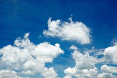 Cloud on blue sky Stock Photos