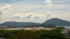 Traffic of Phuket International Airport Stock Footage