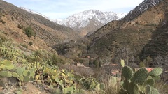 Berber community and small village Atlas mountains Morocco Stock Footage