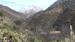 Small Berber village in Atlas mountains in Morocco Stock Footage