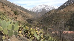 Tranquil scene of Berber village in Atlas mountains Morocco Stock Footage