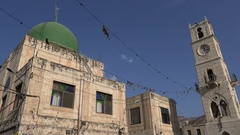 Central mosque in Nablus, Islamic religion West Bank Stock Footage