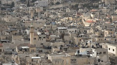 Minaret of mosque in residenital quarter Nablus in the Palestinian Territories Stock Footage
