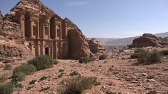 Tourism Jordan, historic city of Petra Stock Footage