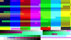 TV color bars with a digital malfunction - HD Stock Video Stock Footage