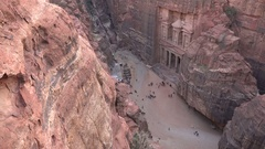 Petra in Jordan Stock Footage