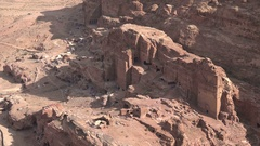 Ruins of the ancient city of Petra in Jordan Stock Footage