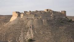 Historic ruins of Shobak castle in Jordan Stock Footage