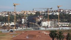 Construction site in Rabat, Morocco Stock Footage