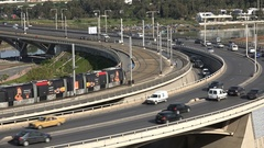 Modern tram and highway in Rabat, infrastructure Morocco Stock Footage