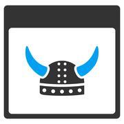 Horned Ancient Helmet Calendar Page Vector Toolbar Icon Stock Illustration