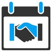 Handshake Calendar Day Vector Toolbar Icon Stock Illustration