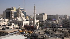 Central mosque in Ramallah, Islamic religion in the West Bank Stock Footage