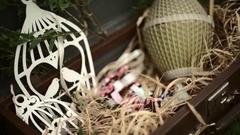 Wedding decorations close-up. Stock Footage
