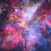 Nebula and galaxies in space. Elements of this image furnished by NASA. Stock Photos
