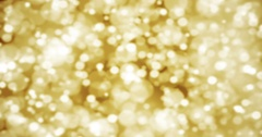 Christmas glitter golden sparkle background with bokeh Stock Footage