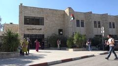 Campus of Birzeit University in West Bank, education Palestinian Territories Stock Footage