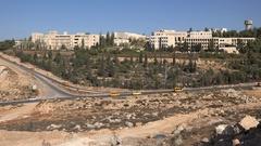 Palestinian Birzeit University in Ramallah, higher education in West Bank Stock Footage