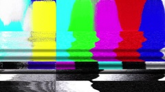 TV color bars test card malfunction - HD Stock Video Stock Footage