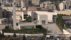 Head office of the Palestinian Authorities in Ramallah, West Bank politics Stock Footage