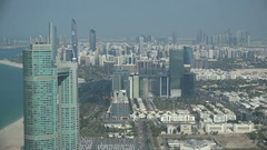 Modern skyline and financial business district of Abu Dhabi Stock Footage