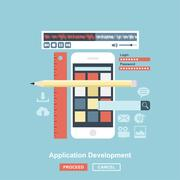 Application development Stock Illustration