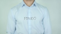 Fondo, Fund writing in Spanish on Glass Stock Footage