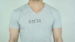 Dieta, Diet writing in Spanish on Glass Stock Footage