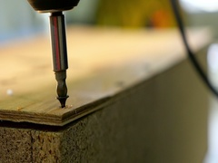 Unscrew the screw slow motion Stock Footage