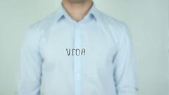 Vida, Life writing in Spanish on Glass Stock Footage