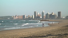 Durban beachfront, south africa Stock Footage