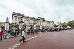 Buckingham Palace in London, UK. Stock Photos