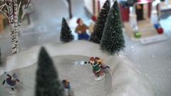 Christmas Toys. Model Village. A Miniature Town During Christmas Holidays Arkistovideo