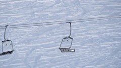 Wintersports - chairlift Stock Footage