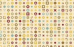 Vector Pattern 50s. Backdrop 1950s retro style Piirros