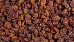 Rotating background of raisin Stock Footage