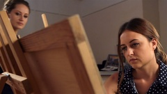 Art school for adults Stock Footage