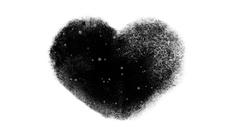 Snowy Frozen Heart Window With an Alpha Channel Stock Footage